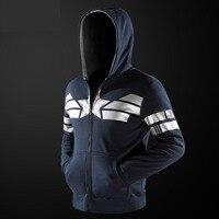 Captain America Hoodies Mens Jungen Superhelden Sweatshirts Qualität Blau Zip Up Super Hero Hoody Kleidung