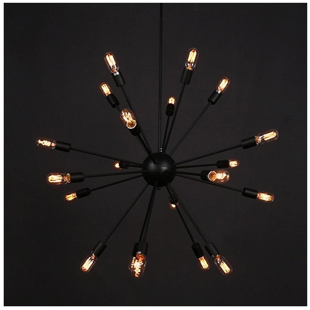 ФОТО High Quality Vintage Edison Industrial Loft Droplight Lamp Metal Large Chandelier With 18 Lights