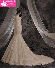Дизайнерское кружевное привлекательное свадебное платье русалки с блестящими кристаллами и бусинами реальные фотографии MTOB1603