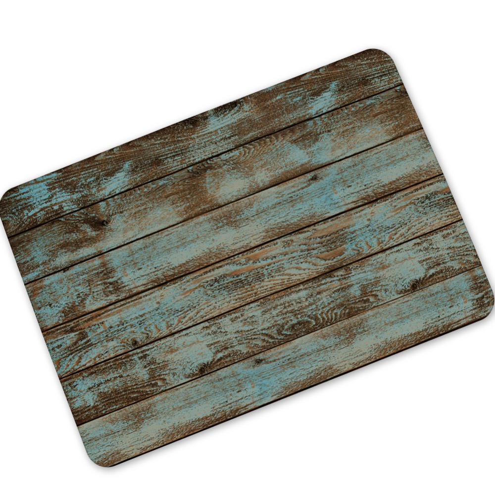 Mdct Rustic Vintage Wood Like Mats Rubber Bath Mat Rug