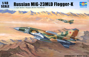 Trumpeter 1/48 Scale Model 02856 Mig-23mld Whip K Fighter 100% Original Toys & Hobbies Model Building