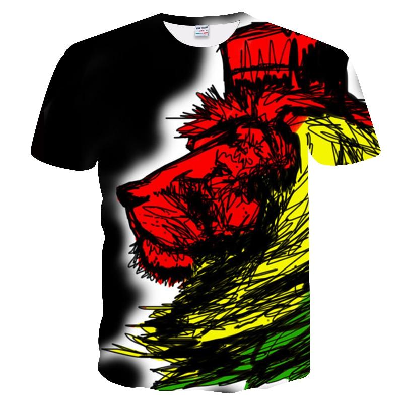 BIANYILONG 2018 New High Street Men/Women T-shirt 3d Lion Print Designed Stylish Summer T shirt Brand Tops Tees Plus Size M-5XL  3