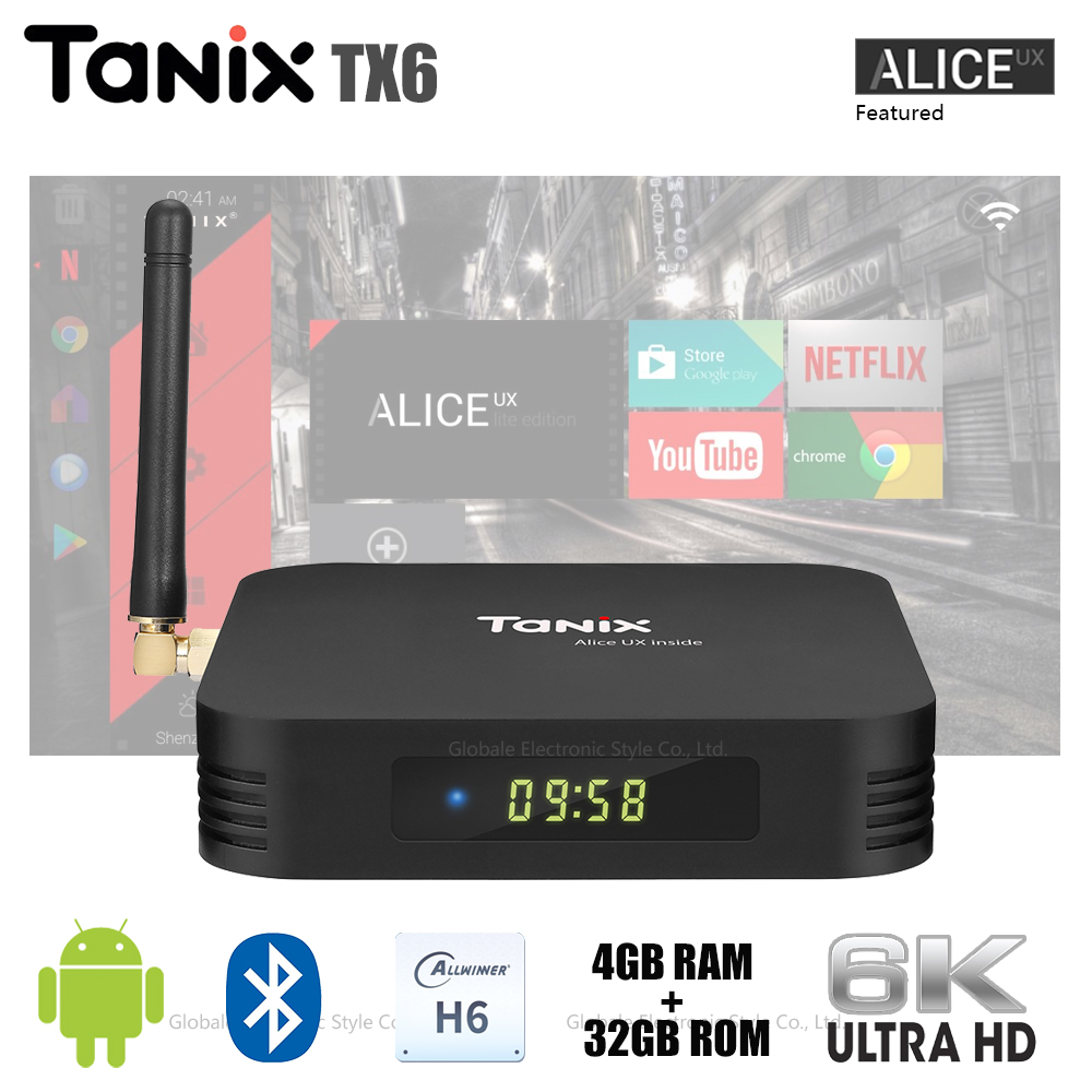 Original Tanix TX6 Smart TV Box Android 9 0 Allwinner H6 6K WiFi Set Top  Box Bluetooth Set top Box H 265 Media Player-in Set-top Boxes from Consumer