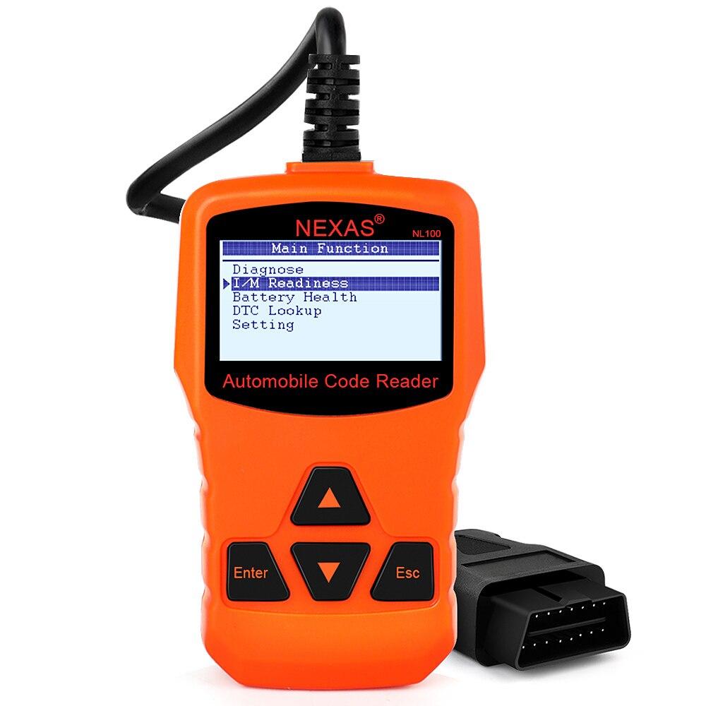 Prix pour OBD2 Auto Diagnostic Scanner NL100 Essence Diesel Moteur Code Lecteur Analyseur avec O2 Capteur Test Mieux Que ELM327 V1.5 AD310