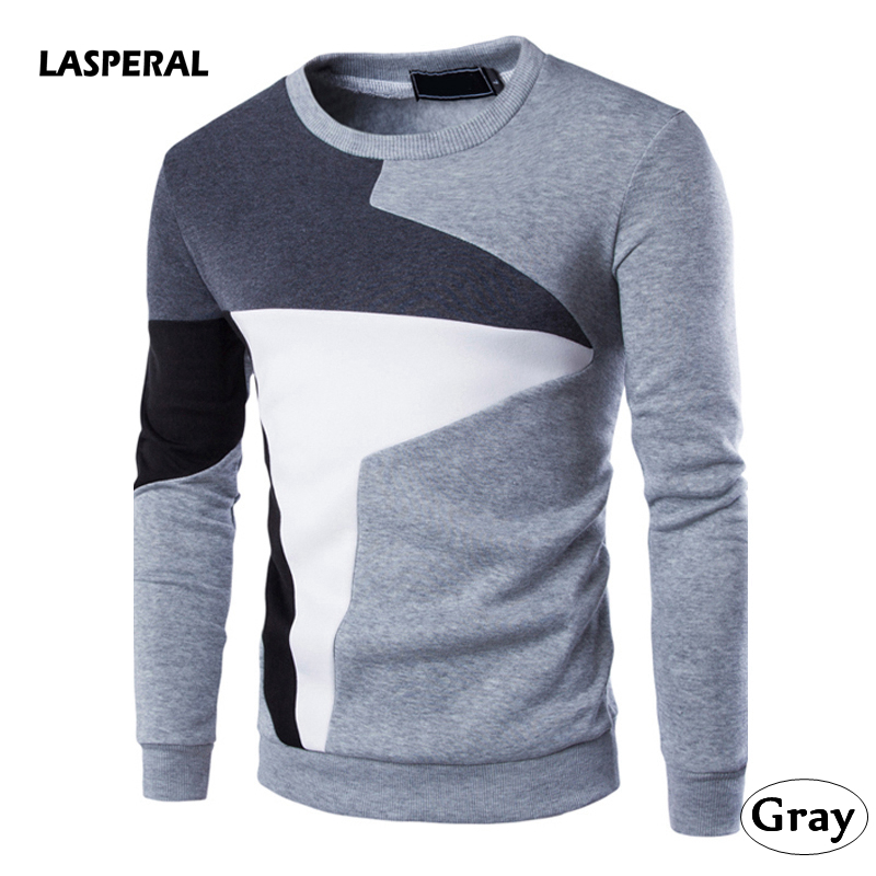 LASPERAL 2018 New Men Hoodies Sweatshirt Brand Clothing Fashion Autumn Patchwork Cotton Tracksuit Male Pullover Sportswear Tops ...