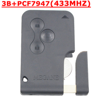 Renault Megane Smart Key With ID46 Chip And Emergency Key 433MHZ Best Price 3pcs Lot Free
