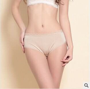 Ladies silk knitted lace panties simple seamless underwear