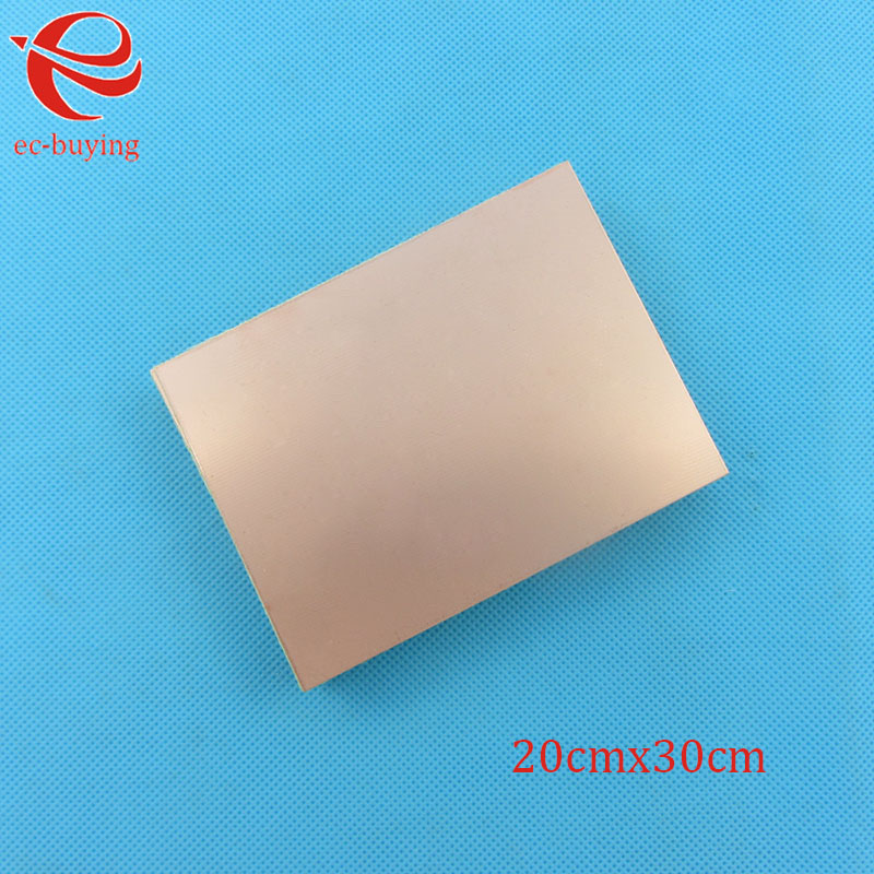 Copper Clad Laminate One Single Side Plate CCL 20x30cm 1.5mm FR-4 Universal Board Practice PCB DIY Kit 200*300*1.5mmCopper Clad Laminate One Single Side Plate CCL 20x30cm 1.5mm FR-4 Universal Board Practice PCB DIY Kit 200*300*1.5mm