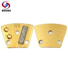 RIJILEI 6PCS Diamond PCD Grinding disc for concrete floor Scraper Abrasive Disk Coating Removal JX07