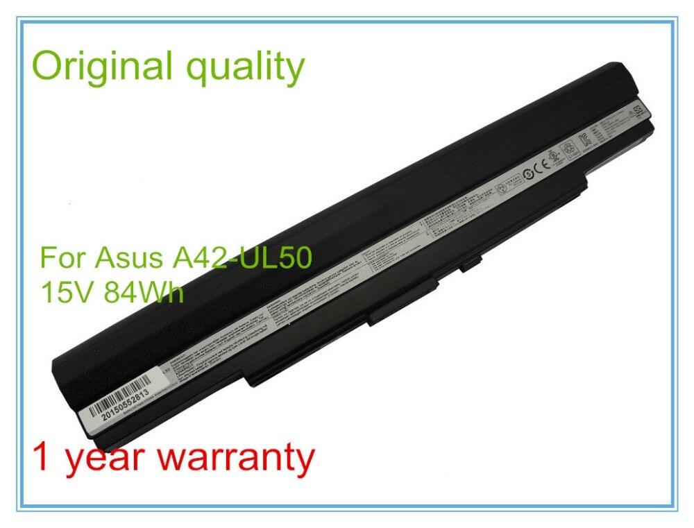 Original Laptop Battery for  UL30 UL30A UL30AT UL50 UL50VS UL80 UL80A A42-UL30 A42-UL50 A42-UL80 84WH  кабельная втулка litai pg63 42 52 ul