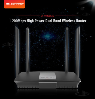 Comfast CF-WR618AC 1200Mbps Smart Gigabit Wireless WiFi Router 11ac 2.4G/5GHz Wi-Fi Repeater for Office /Internet cafe