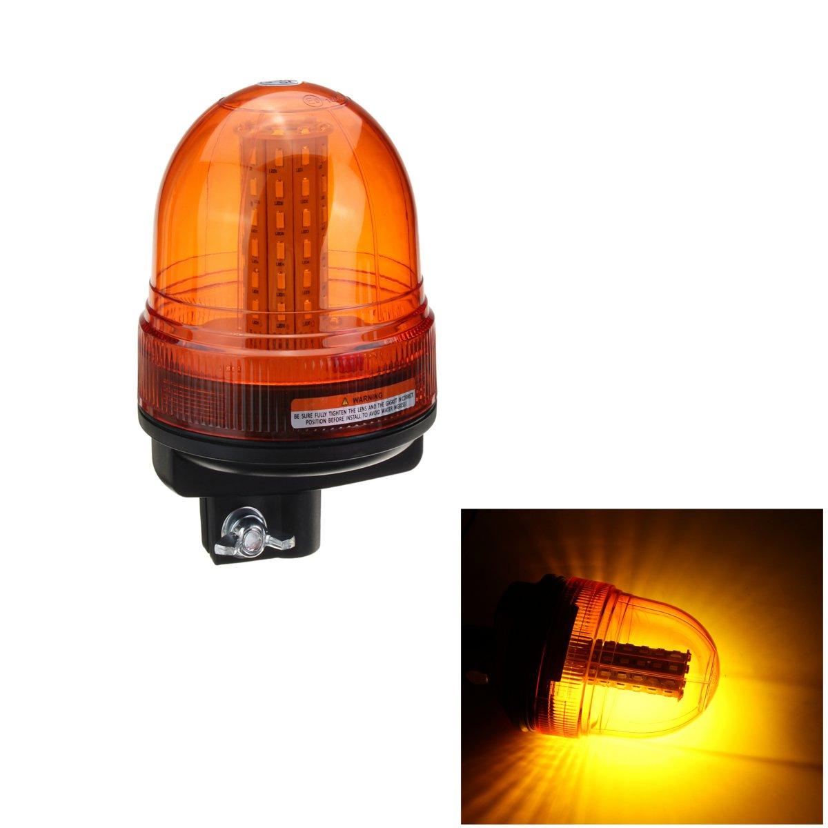 60 smd5730 светодиодные вращающийся мигающий желтый Маяк гибкий Трактор Гама полюса сигнальная лампа