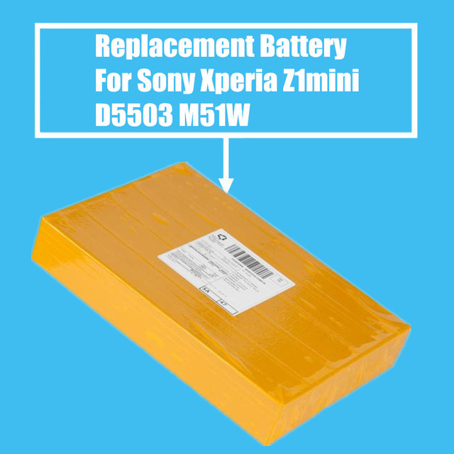 10Pcs/Pack 2300mah Replacement Battery For Sony Xperia Z1mini D5503 Xperia Z1 Compact M51W High Quality