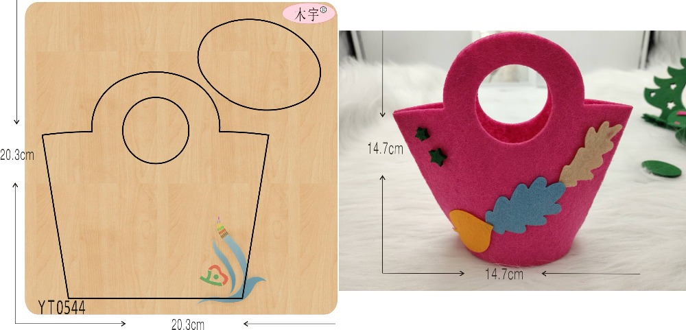 Pink bag DIY new wooden mould cutting dies for scrapbooking Thickness 15 8mm muyu YT0544