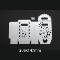 Hand Gifts Box Die Cuts Metal Cutting Dies In Scrapbooking Embossing Folder DIY Party Decor Funny