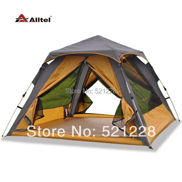 ФОТО 2016 on sale Alltel 2 layer automatic 3-4 person hiking beach fishing family party sun shade-shed awning outdoor camping tent