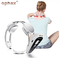 OPHAX Infrared Heating Neck Massager Electric Relax Cervical Treatment Acupuncture Therapy Device New Wireless Body Health