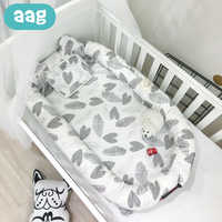 AAG Portable Baby Nest Bed Crib Infant Cotton All-round Nursery Travel Folding Bed With Pillow Removable Washable Babynest 40