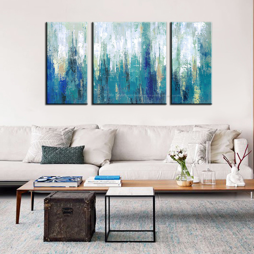 Muya pictures painting oil painting on canvas famous abstract painting acrylic blue canvas for Best paintings for living room