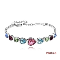 2017 NEW Jewelry Micro Insert Zircon Bracelet Girl Rose Chain Sweet Small Accessories