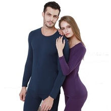 Long Johns Men Thin Solid Color Basic Thermal Underwear Fitness Underpants and Undershirts Thermo Elastic Tight Sets
