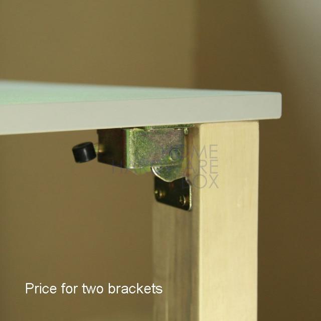Pair Folding Table Leg Bracket Extension Tables Foldable Self Lock Folded  Feet