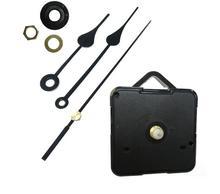 100sets Shaft 18mm DIY Quartz Wall Clock Movement Mechanism Repairment Repair Parts Black Heart Hands Complete parts with Hook