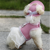 Unique And Fashion Design Oxford Cloth Free Shipping Promotional Colorful Pet Dress Lovely Pet Harness Summer