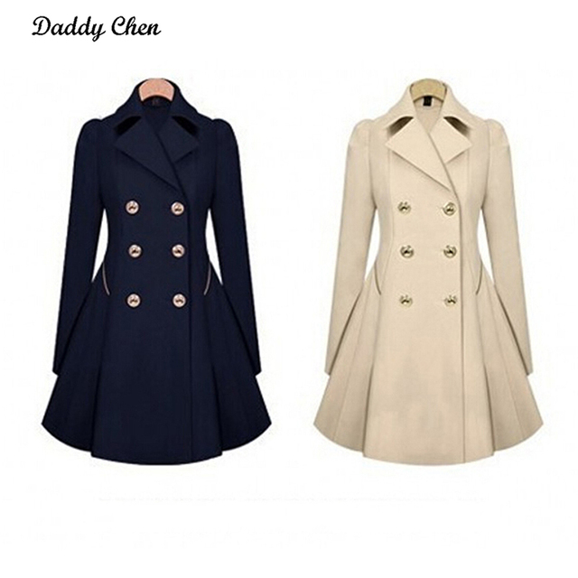 Double Breasted Slim Trench Coat