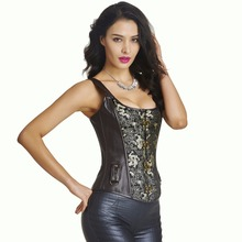 new metal bone corset steampunk waist corsets for girls physique shaper waist cincher corset punk corselets S-2XL