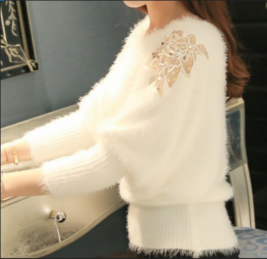 Fashion Women's SWEATER New Korean Loose Soft Bat Knitted Bottoming Shirt Mohair Pullover Women's Tide Spring Autumn Female Tops