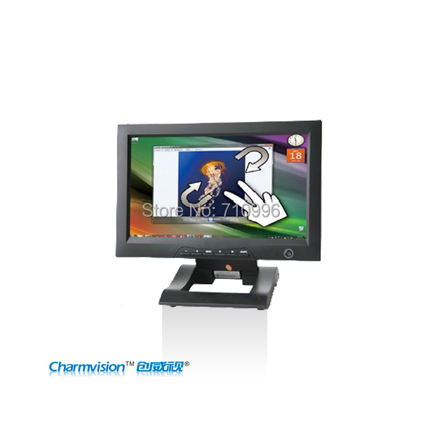 CHARMVISION M1012VAH-T 10.1inch TFT LCD Monitor with Multi-touch screen Function multi touch screen DVI HDMI monitor