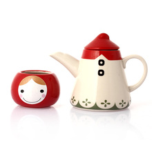 Lindo drinkware tetera de cerámica macetas de té de alta temperatura resistente café té herramientas Regalo de los cabritos