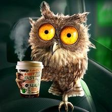 "Full Round Drill 5D DIY Diamond Painting ""Drink coffee owl"" 3D Embroidery Cross Stitch Mosaic Rhinestone Decor new year gift"