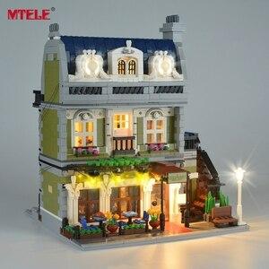 Image 5 - Mtele Thương Hiệu Đèn LED Lên Bộ Cho 10243 Nhà Hàng Nhà Người Tạo Chuyên Gia Thành Phố Chiếu Sáng Đường Phố Bộ (Không Bao Gồm Mô Hình)