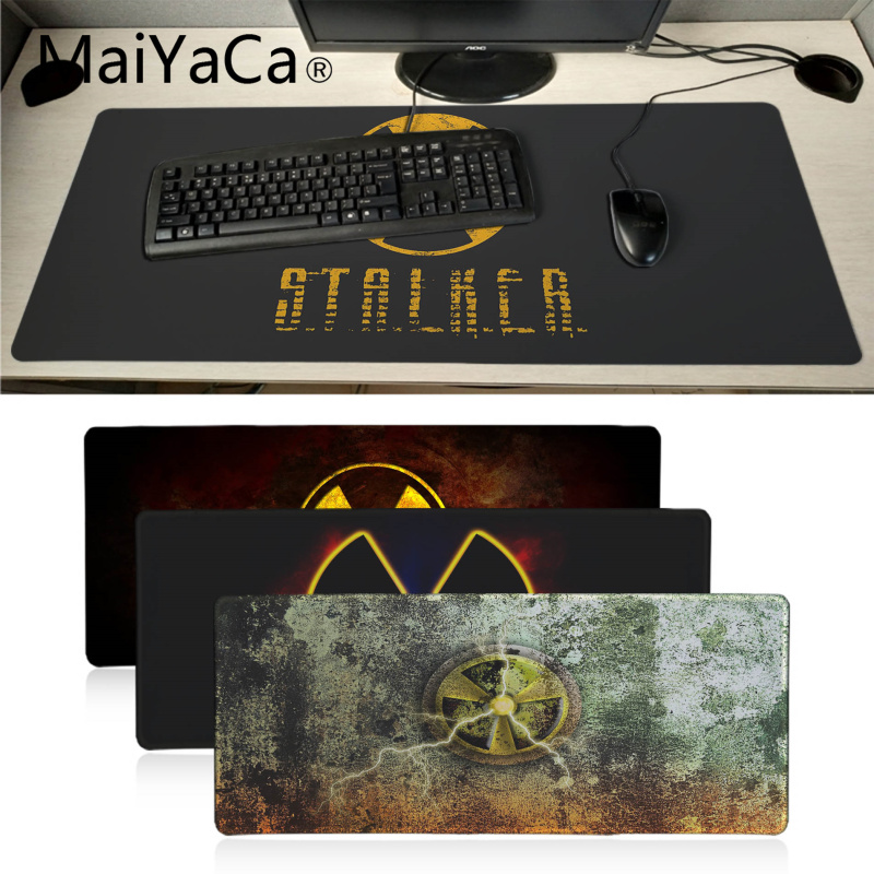 Maiyaca Stalker Logo Rubber Mouse Durable Desktop Mousepad Large Lockedge Alfombrilla Gaming Mouse Pad Gamer PC Computer Mat