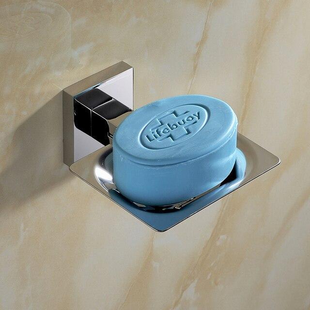 2016 SUS 304 Stainless Steel Bathroom Soap Dish Holder Modern Smooth Mirror Accessories Hardware Set