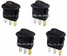 цена на led rocker switch 3 pins ON-OFF Round Rocker Switch LED illuminated Car Dashboard Dash Boat Van 12V