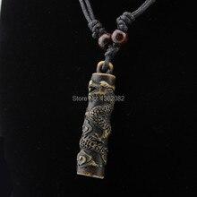 Имитация кости резьба тотемный дракон кулон мальчик Мужская Этническая ожерелье из деревянных бусин амулет подарок на удачу MN112