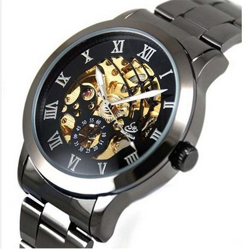 Mens Watches Top Brand Luxury Automatic Classic Skeleton Men's Mechanical Stainless Steel Wrist Watch Relogio Masculino #5052204 mce automatic watches luxury brand mens stainless steel self wind skeleton mechanical watch fashion casual wrist watches for men