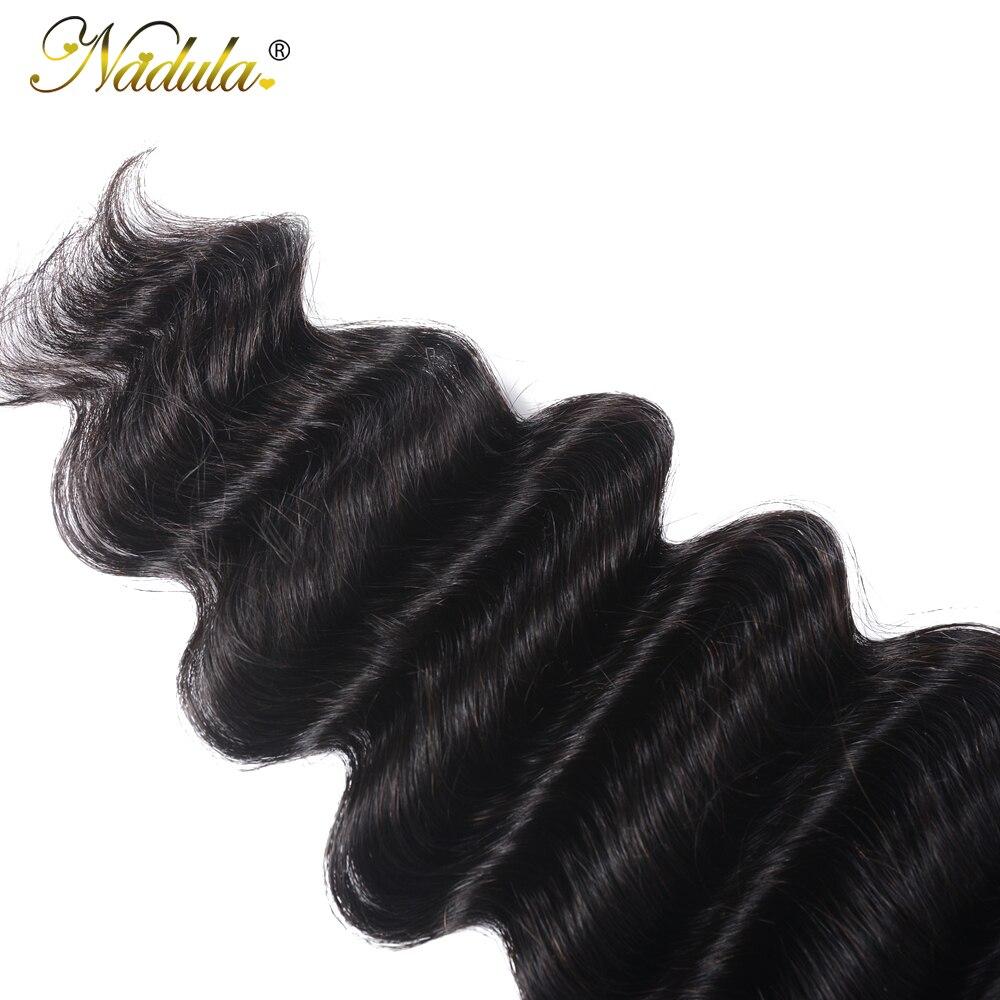 Nadula Hair 4*4 Lace Closure Loose Deep     Hair Free Part Swiss Closure Natural Color 10-20inch 5