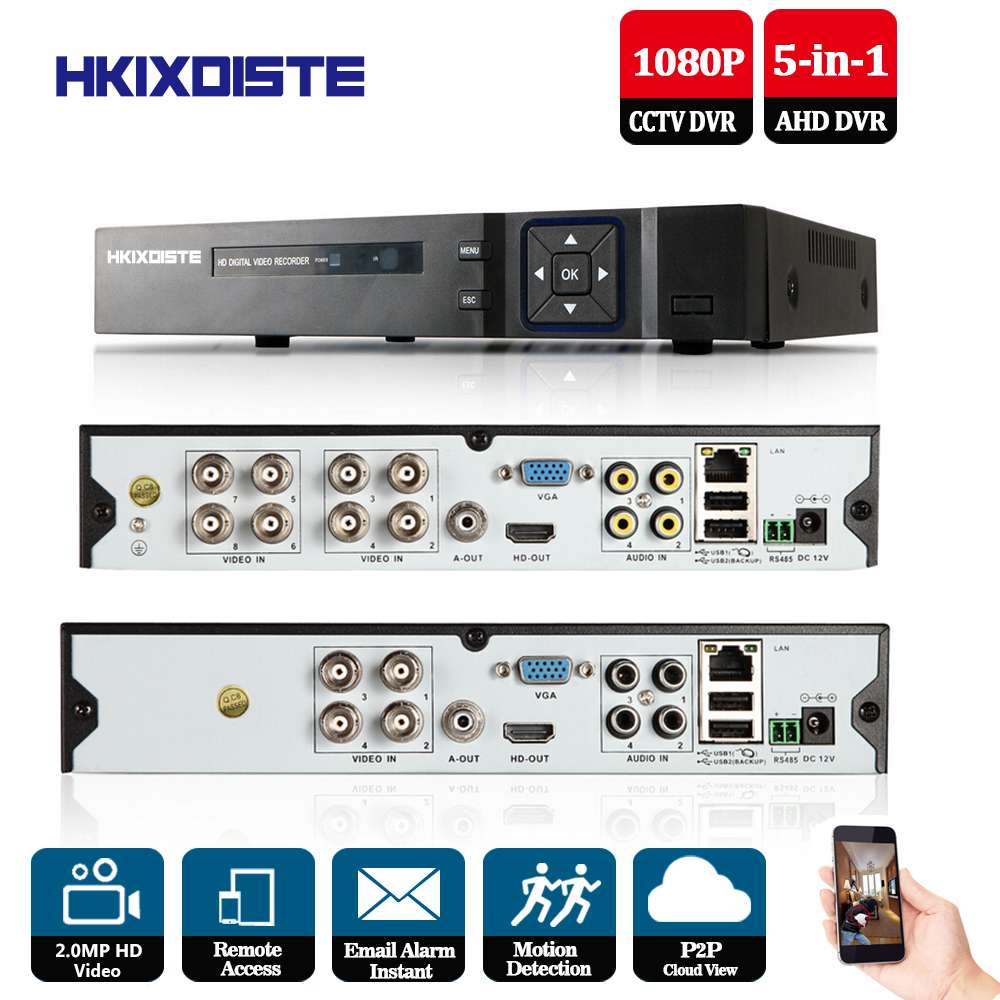 HD 1080P 8Ch channel solution Standalone DVR CVI//TVI//AHD//CVBS//IP All-in-One
