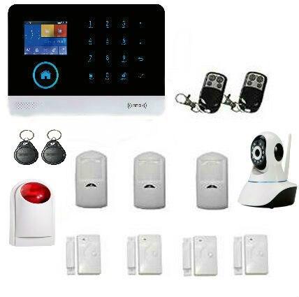 Yobang sécurité sans fil wifi maison cambrioleur sécurité 2G alarme de sécurité système d'alarme GSM capteur PIR avec capteur de température