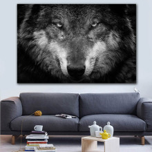 Wild Animal Wall Art Wolf Picture Canvas Painting Black and White Wolf Photo Canvas Print and Poster Home Room Art Wall Decor худи print bar white wolf