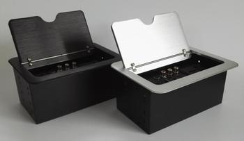 Desktop Hidden Lan Outlet lipe Up For Conference system RCA HDMI rj45 clamshell desktop socket