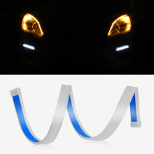 2pcs 30cm 45cm 60cm Amber Flowing Daytime Car Running Lights LED DRL Strip Light 12V Headlight Brake Turn Signal Lamp