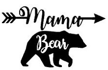 Mama Bear Mom Life Black Decal Vinyl Sticker Cars Trucks Vans Walls Laptop  Black  5.5 x 3.5 in LLI532 asian black bear ursus thibetanus in kohistan pakistan