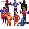 Children S Day Boys Muscle Super Hero Captain America Costume SpiderMan Batman Hulk Avengers Cosplay For