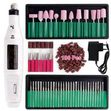Mill Cutter UV Gel Polish Remover Machine For Manicure Electric Nail Drill Bits Set Professional Nail Art Sanding Nail File