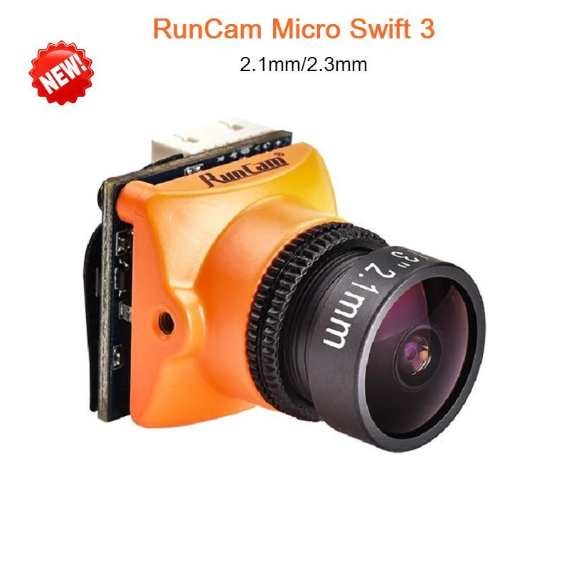 все цены на Runcam Micro Swift 3 FPV Camera 600TVL Drone Camera 2.1/2.3MM Lens 1/3 SONY Super HAD II CCD OSD NTSC PAL for RC Drone Quad